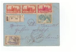 Guerre 1939 1945 Censure Militaire Sur Lettre Recommandée Bodo Dioulasso Cote Ivoire Cachet Controle Postal 1941 - Marcophilie (Lettres)