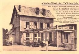CPA :   Foret De Lente Vercors (26) Chalet Hotel Club Alpin  Moulier   Note Du Restaurant  Rare - France