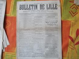 28 OCTOBRE 1915 BULLETIN DE LILLE JOURNAL PUBLIE SOUS LE CONTRÔLE DE L'AUTORITE ALLEMANDE,AVIS DE LA MAIRIE,ACTES DE L'A - 1914-18
