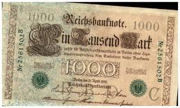 3 Billets (SUP) > Allemagne > Année 1910 > Valeur 1 000 Mark Vert Avec N=° A Suivre 502 B - [ 2] 1871-1918 : German Empire