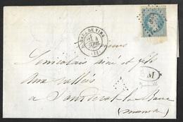 Calvados-Lettre Avec Cachet Gare De Vire-Losange Des Ambulants Sur N°29 - Marcophilie (Lettres)