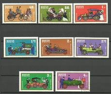 Hungary 1970 Historic Cars, Daimler, Peugeot, Benz, Cudell, Rolls-Royce, Ford T, Vermorel, Csonka Mi 2564-2571 - Hungary
