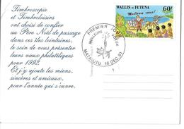 "CP WALLIS ET FUTUNA -""meilleurs Voeux De..."" -16/12/1991 Premier Jour - Wallis Y Futuna"