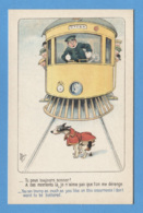 THEMES - TRANSPORTS - ILLUSTRATEUR MICH - TRAMWAY TRAM CHIEN - BON A TB ETAT - Tram