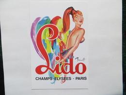 CPM Cabaret Du Lido Paris Champs Elysées - Affiche De La Revue Illustrateur Brenot Danseuse En Plume Et Guêpière - Spectacle