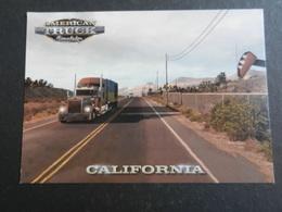 20023) AMERICAN TRUCK CALIFORNIA CARTONCINO FORMATO CARTOLINA RETRO BIANCO - Camion, Tir