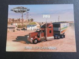 20023) AMERICAN TRUCK CALIFORNIA REST AREA CARTONCINO FORMATO CARTOLINA RETRO BIANCO - Camion, Tir