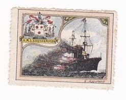 Vignette Militaire Delandre - Marine - H.M.S. Southampton - Erinnofilia