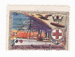 Vignette Militaire Delandre - Marine - Royal Naval Hospital - Erinnofilia