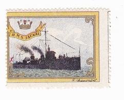Vignette Militaire Delandre - Marine - H.M.S. Jackal - Erinnofilia