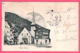 Biel - Wallis - Eglise - Kirche - Animée - Photo Dr. F. G. STEBLER - 1911 - VS Valais