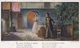 AK Dreimäderlhaus - Schubert - Es Soll Der Frühling Mir Künden... - Braunschweig 1918 (46109) - Muziek En Musicus