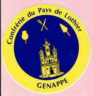 Sticker - Confrérie Du Pays De Lothier - GENAPPE - SERIDEL NIVELLES - Autocollants