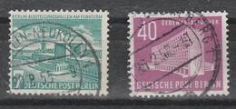 Berlin - West  - 1954 - Berliner Bauten  - Lot 1- MiNr. 121-122   Gestempelt Siehe Scan - [5] Berlín