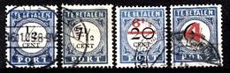 Pays-Bas 1909-10 Mi.nr: Porto 13+21+28+42   Oblitérés / Used / Gest. - Taxes