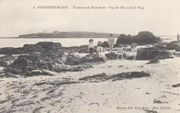 BAGUENES-PLAGE: Environs De Pont-Aven - Vue De L'Ile Et De La Plage - Pont Aven