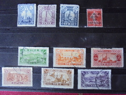 Lot 10 Timbres Syrie Colonies Françaises - Collections (without Album)