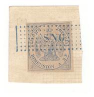Senegal Timbre Fiscal Avec Surcharge Cachet Bleu SNG Timbre Imperial Dimension Non Dentelé 2 Francs - Sénégal (1887-1944)