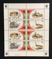 Palestine 2001; WWF Animals & Fauna; Birds, Wildlife; MNH, Neuf**, Postfrisch; CV 20 Euro; - Palestine