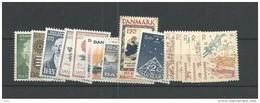 1973 MNH Denmark, Dänemark, Year Complete, Postfris - Volledig Jaar