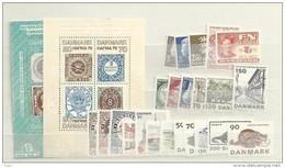 1975 MNH Denmark, Dänemark, Year Complete, Postfris - Denemarken
