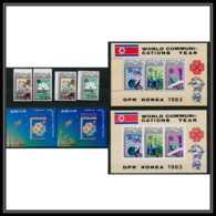 185 Corée (korea) Neuf ** MNH  2400/05 + Bloc Telecommunication Espace (space) Non Dentelé (imperforate) - Space