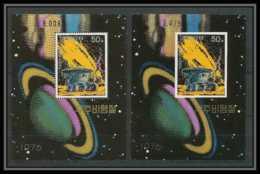 192 Corée (korea) Neuf ** MNH  1978 Espace (space) Non Dentelé (imperforate) + Dentelés - Space