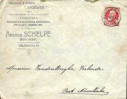 Belgique. TP 74  L. Roulers > DR Oost-Nieuwkerke  1906 - Marcofilia