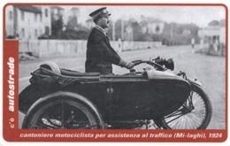 *ITALIA: VIACARD - MI-LAGHI - CANTONIERE MOTOCICLISTA, 1924 (L. 20000)* - Usata - Non Classificati