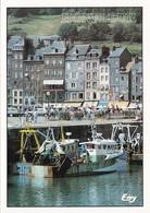 14 Honfleur L'Avant Port Et Les Façades Typiques Du Quai Sainte Catherine (2 Scans) - Honfleur