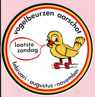 Sticker - Vogelbeurzen Aarschot - Laatste Zondag Februari-augustus-november - Stickers