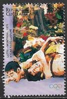 Central African Republic 1996. Scott #1117g (U) Past Olympic Medalist, Kiyomi Kato, Wrestling 1972 - Repubblica Centroafricana