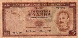 TIMOR=1959    100  ESCUDOS    P-24    V FINE - Timor