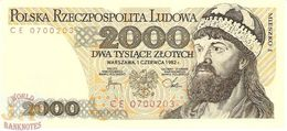 POLAND 2000 ZLOTYCH 1982 PICK 147c UNC - Pologne
