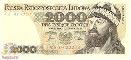 POLAND 2000 ZLOTYCH 1982 PICK 147c UNC - Poland