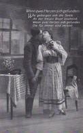 AK Deutscher Soldat Und Frau - Wenn Zwei Herzen Sich Gefunden - Patriotika - 1. WK (46140) - Guerre 1914-18