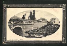 Passepartout-Präge-AK Zante, Teilansicht Mit Brücke - Greece