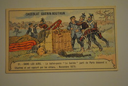 """Chromo Chocolat Guerin Boutron Dans Les Airs Le Ballon Poste """" Le Galilée """" - Unclassified"""