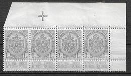OBP81, Postfris** In Strook Van 4 Met Bladboord (met Scharnier Op Bladboord) - 1893-1907 Stemmi