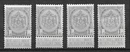 OBP81, Postfris** (4x) - 1893-1907 Stemmi