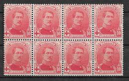 OBP130, Postfris** In Blok Van 8 - 1914-1915 Croix-Rouge