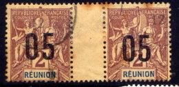 REUNION IS., GUTTER PAIR, NO. 99 - Isola Di Rèunion (1852-1975)