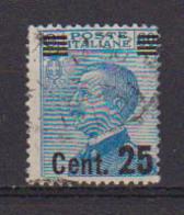REGNO D'ITALIA 1924 FRANCOBOLLI DEL 1901-23 SOPRASTAMPATI SASS. 178  USATO VF - 1900-44 Victor Emmanuel III.