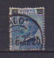 REGNO D'ITALIA 1924 FRANCOBOLLI DEL 1901-23 SOPRASTAMPATI SASS. 179  USATO VF - Afgestempeld