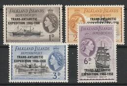 FALKLAND ISLANDS DEPENDENCIES 1956 YT N° 66 à 69 * - Géorgie Du Sud