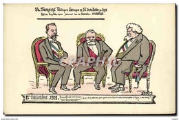 CPA Semaine Politique Satirique 1906 Visites Officielles - Satirisch