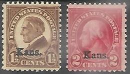 US  1929  Sc#659-60   1 1/2c & 2c KANS  MNH     2016 Scott Value $14 - Neufs