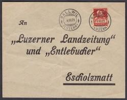 LU    BALLWIL - ESCHOLZMATT  /  SUPER STEMPEL - Briefe U. Dokumente