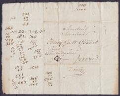 """Lettre De Voiture Datée 1786 De BOIS-LE-DUC Pour VERVIERS """"avec 12 Ballots De Laine"""" - 1714-1794 (Pays-Bas Autrichiens)"""