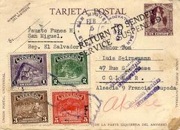"1941- C P E P 1 C. + Compl. 11 C. Avec "" RETURN TO SENDER /SERVICE SUSPENDED  "" ( Avec Alsace ) - Postmark Collection (Covers)"